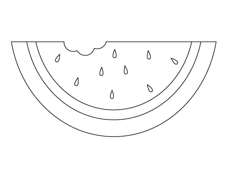 Watermelon Slice Coloring Page Coloring Pages Watermelon Coloring Pages
